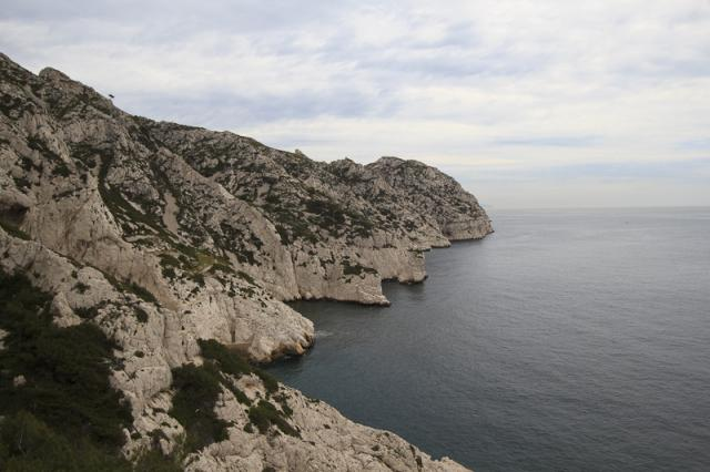 Calanque de Cortiou et son déversoir des eaux usées de Marseille