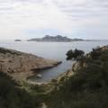 Calanque de Podestat, île plane et île de Riou