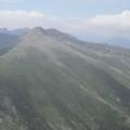 Bocca Manganello tout à gauche (1800 m) et variante du GR 20 par les crêtes entre Petra Piana et la bergerie de l'Onda
