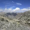 Vue sur le nord et la vallée de la Restonica depuis Punta Muzzella