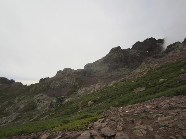Capu Tafunatu et Refuge de Ciuttulu di i Mori depuis Bocca di Foggiale (1962 m)