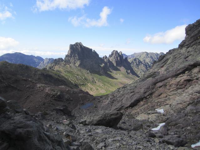 Vallon d'Ascu Stagnu, Bocca Stranciacone (1987 m), Punta Missoghiu (2201 m), Punta Stranciacone (2151 m)