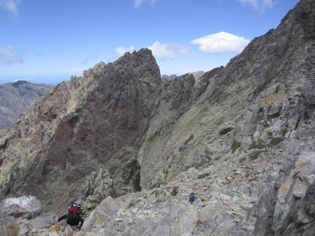 Cirque de la solitude - E Cascettoni - Punta Rossa (2247 m), Bocca Tumasginesca (Col Perdu - 2183 m)