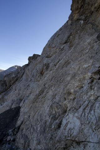 Le mur du Passet (2654 m)