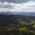 Le massif du Mont-Dore enneigé, sud de la chaîne des puys