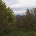 Vue sur le Puy Chopine et le Puy de Dôme au sommet du Puy de Louchadière