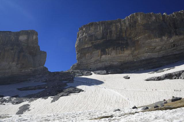 Brèche de Rolland et glacier de la Brèche (août 2010)