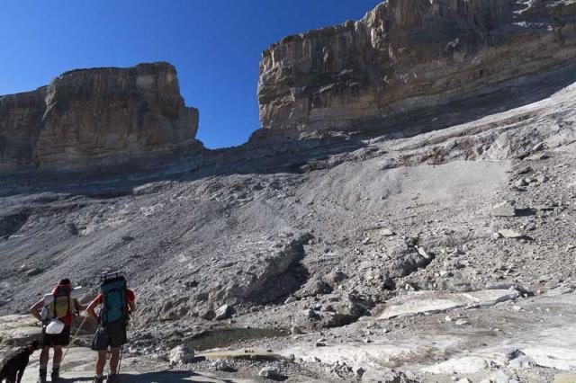 Brèche de Rolland et glacier de la Brèche (août 2012)