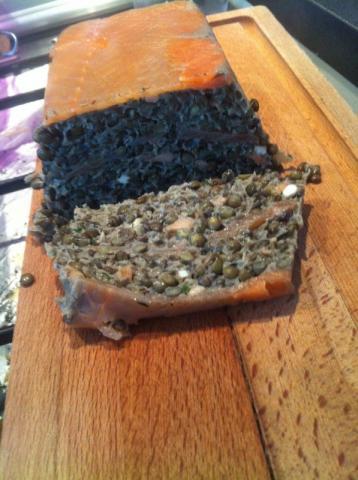 Terrine de lentilles vertes du Puy au saumon fumé